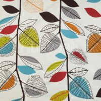 linen look woven printed fabric color2
