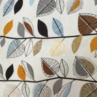 linen look woven printed fabric color3
