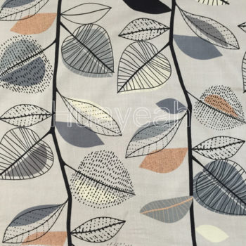 linen look woven printed fabric